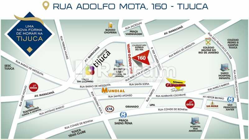 LOCALIZAÇÃO - Apartamento 2 quartos à venda Tijuca, Zona Norte - Grande Tijuca,Rio de Janeiro - R$ 1.340.000 - LAAP21342 - 18