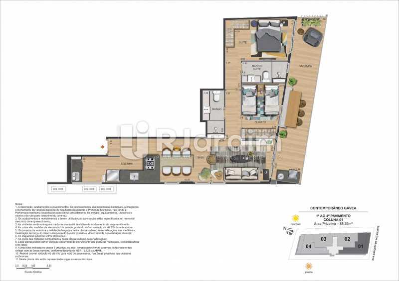 CONTEMPORÂNEO GÁVEA - Apartamento À Venda - Gávea - Rio de Janeiro - RJ - LAAP21635 - 26