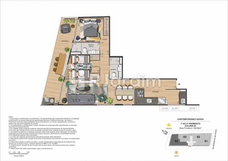 CONTEMPORÂNEO GÁVEA - Apartamento Gávea,Zona Sul,Rio de Janeiro,RJ À Venda,2 Quartos,88m² - LAAP21635 - 28