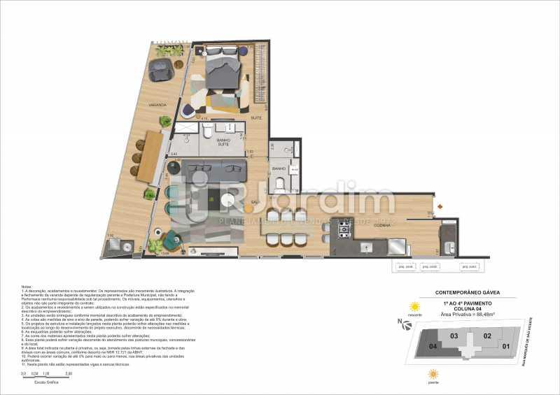 CONTEMPORÂNEO GÁVEA - Apartamento Gávea,Zona Sul,Rio de Janeiro,RJ À Venda,2 Quartos,88m² - LAAP21635 - 29