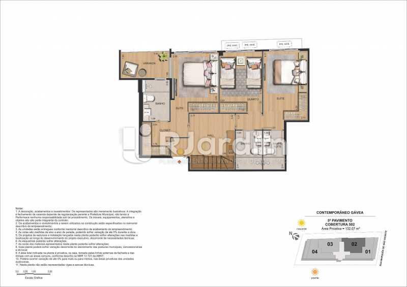 CONTEMPORÂNEO GÁVEA - Apartamento Gávea,Zona Sul,Rio de Janeiro,RJ À Venda,2 Quartos,88m² - LAAP21635 - 31