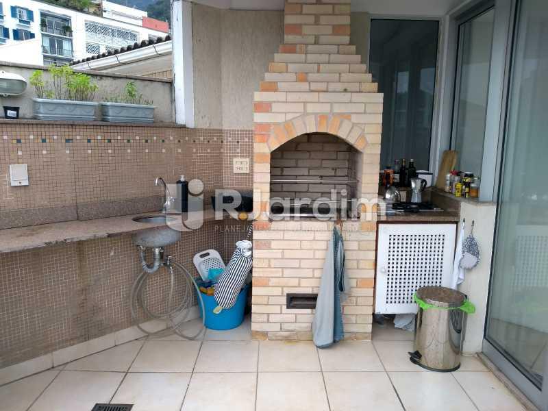 terraço / cozinha de apoio - Cobertura para venda Avenida Alexandre Ferreira,Lagoa, Zona Sul,Rio de Janeiro - R$ 2.600.000 - LACO30259 - 5