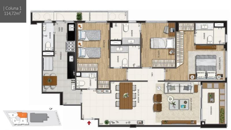 BOTANIQUE 211 - Botanique 211 Apartamento Jardim Botânico 3 Quartos - LAAP31898 - 10
