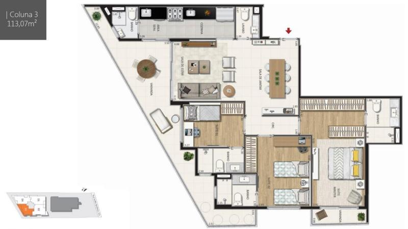 BOTANIQUE 211 - Botanique 211 Apartamento Jardim Botânico 3 Quartos - LAAP31898 - 13