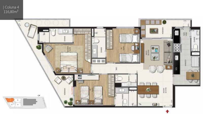 BOTANIQUE 211 - Botanique 211 Apartamento Jardim Botânico 3 Quartos - LAAP31898 - 14