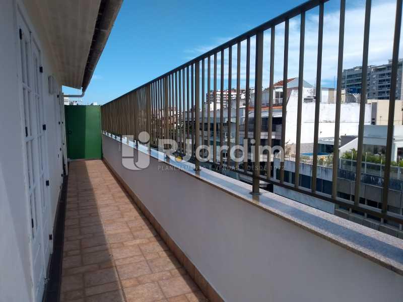 varanda lateral / terraço  - Compra Venda Avaliação Imóveis Cobertura Ipanema 4 quartos - LACO40162 - 7