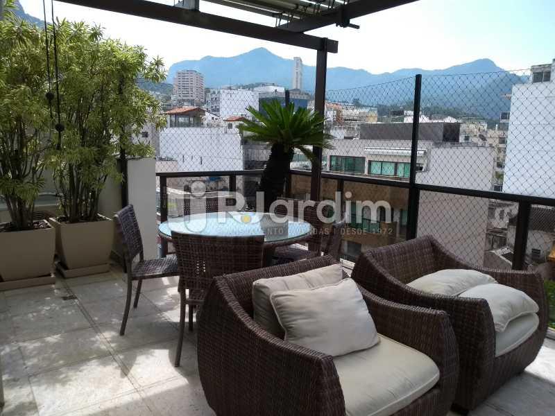 varanda / segundo piso  - Compra Venda Avaliação Imóveis Cobertura Leblon 4 Quartos - LACO40166 - 8