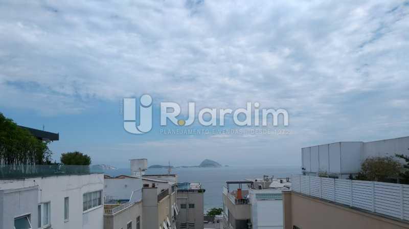 vista mar / terraço  - Compra Venda Avaliação Imóveis Cobertura Leblon 4 Quartos - LACO40166 - 1