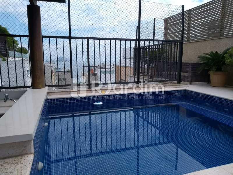 terraço / piscina  - Compra Venda Avaliação Imóveis Cobertura Leblon 4 Quartos - LACO40166 - 3