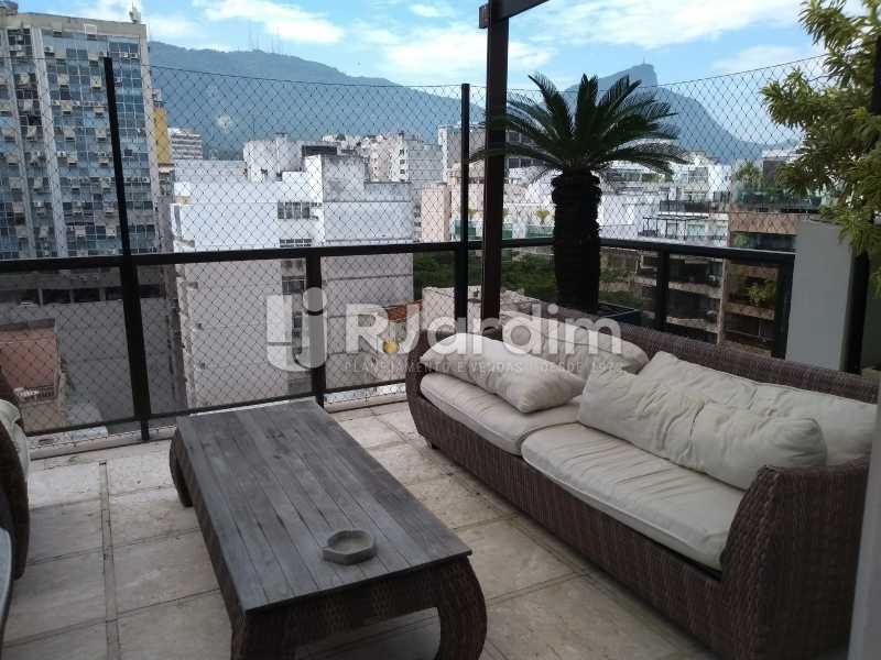 varanda / segundo piso  - Compra Venda Avaliação Imóveis Cobertura Leblon 4 Quartos - LACO40166 - 7