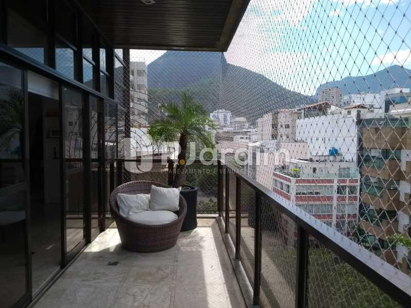 varanda / 2do piso  - Compra Venda Avaliação Imóveis Cobertura Leblon 4 Quartos - LACO40166 - 25