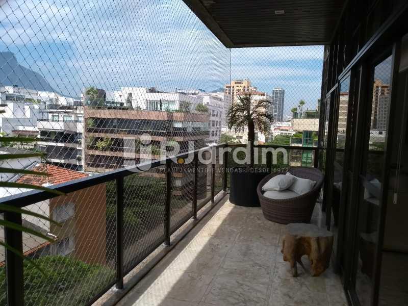 varanda / 2dp piso  - Compra Venda Avaliação Imóveis Cobertura Leblon 4 Quartos - LACO40166 - 26