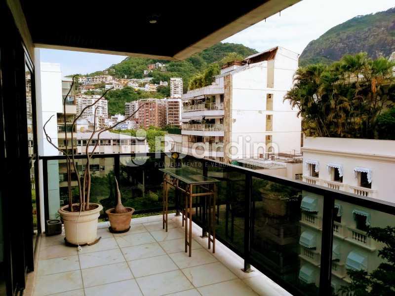 Varanda / lado esquerdo  - Compra Venda Avaliação Imóveis Apartamento Lagoa 4 Quartos - LAAP40734 - 1