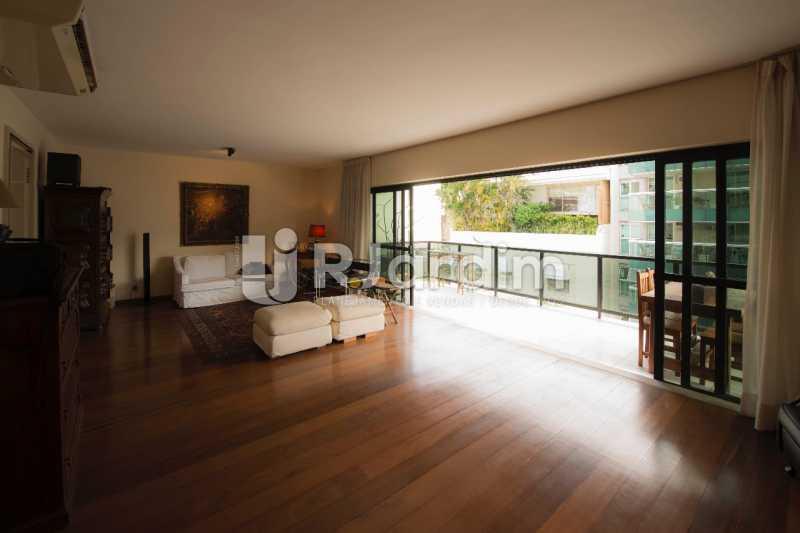 Salão / varanda  - Compra Venda Avaliação Imóveis Apartamento Lagoa 4 Quartos - LAAP40734 - 5