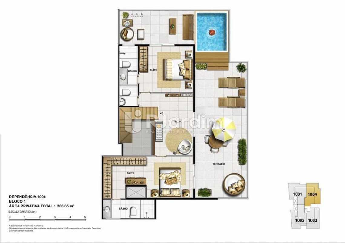 DEPENDÊNCIA 1004 - BLOCO 01 - Parc Du Conde Apartamento Botafogo 3 Quartos - LAAP31953 - 4