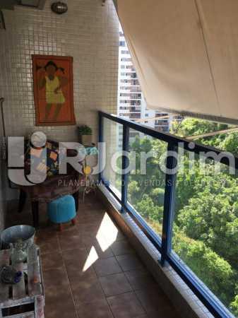 Varanda - Apartamento À Venda - Humaitá - Rio de Janeiro - RJ - LAAP21387 - 7