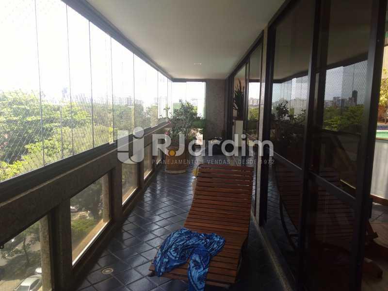Varanda - Aluguel Administração Imóveis Apartamento Duplex Lagoa 4 Quartos - LAAP32015 - 4