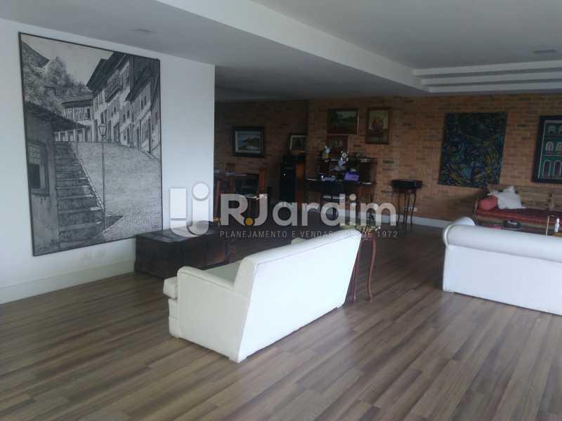 Salão - Aluguel Administração Imóveis Apartamento Duplex Lagoa 4 Quartos - LAAP32015 - 9