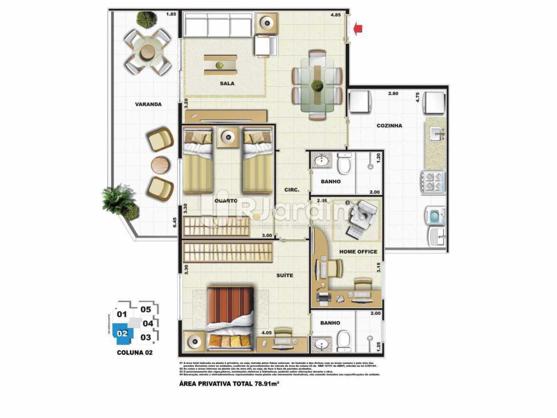 PLANTA COLUNA 2 - Apartamento Vila Isabel,Zona Norte - Grande Tijuca,Rio de Janeiro,RJ À Venda,3 Quartos,79m² - LAAP31979 - 6