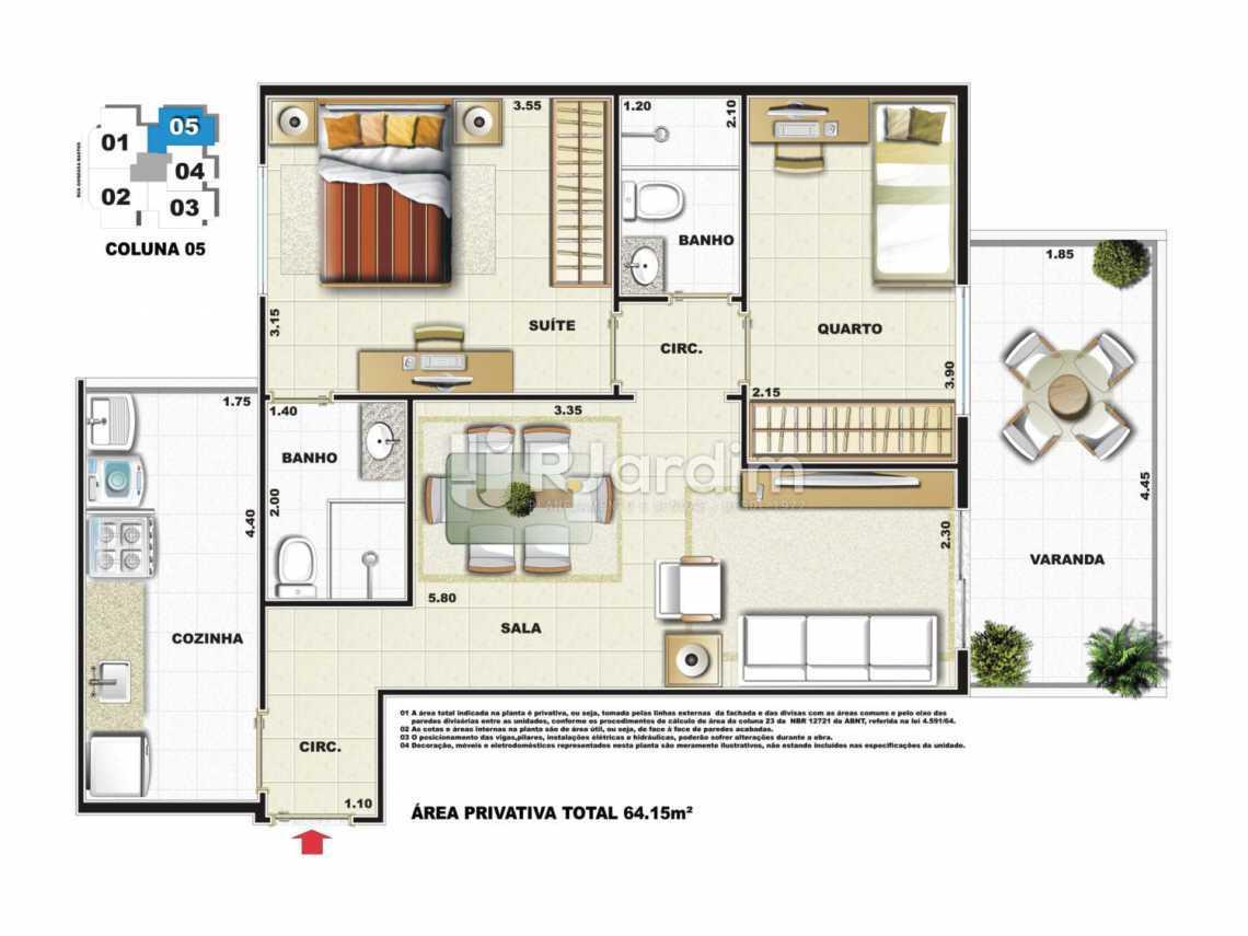 PLANTA COLUNA 5 - Apartamento Vila Isabel,Zona Norte - Grande Tijuca,Rio de Janeiro,RJ À Venda,3 Quartos,79m² - LAAP31979 - 9
