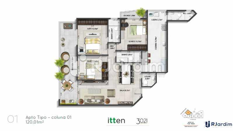 planta01 - Apartamento 2 quartos à venda Barra da Tijuca, Zona Oeste - Barra e Adjacentes,Rio de Janeiro - R$ 902.783 - LAAP21407 - 1