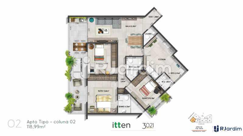 planta02 - Apartamento 2 quartos à venda Barra da Tijuca, Zona Oeste - Barra e Adjacentes,Rio de Janeiro - R$ 902.783 - LAAP21407 - 3