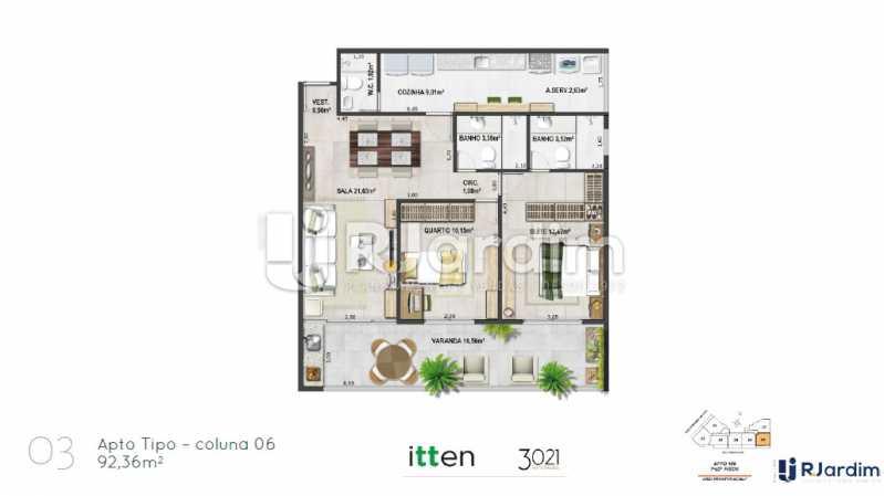 planta03 - Apartamento 2 quartos à venda Barra da Tijuca, Zona Oeste - Barra e Adjacentes,Rio de Janeiro - R$ 902.783 - LAAP21407 - 4