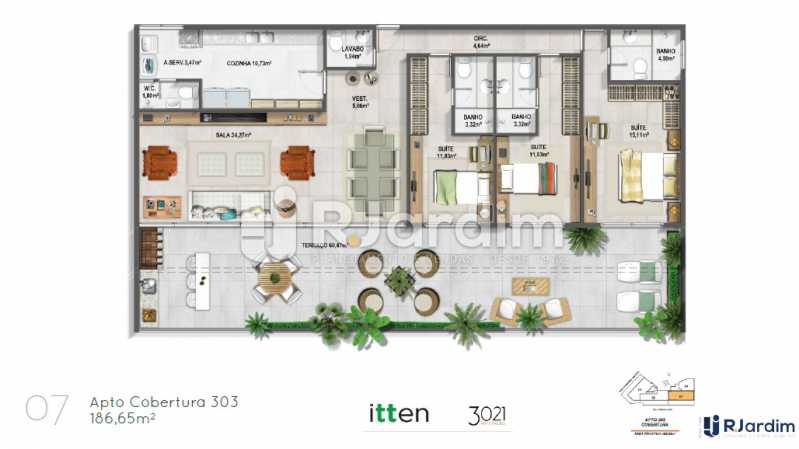 planta07 - Apartamento 2 quartos à venda Barra da Tijuca, Zona Oeste - Barra e Adjacentes,Rio de Janeiro - R$ 902.783 - LAAP21407 - 8