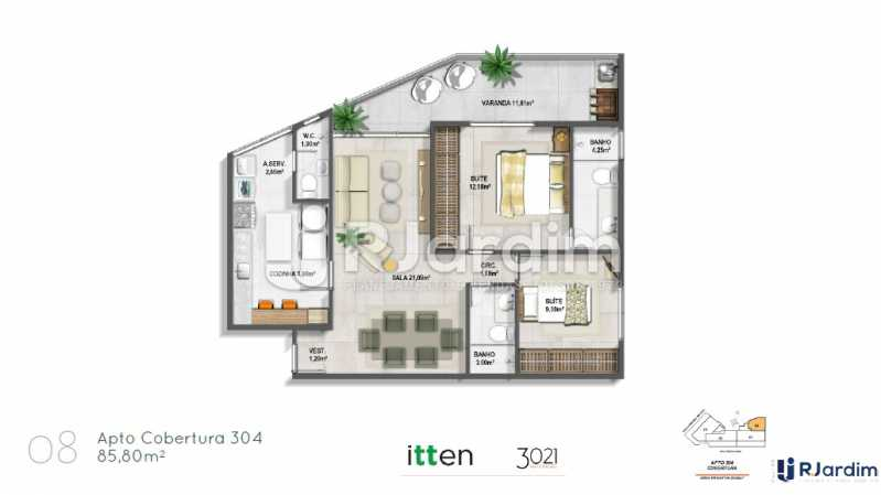 planta08 - Apartamento 2 quartos à venda Barra da Tijuca, Zona Oeste - Barra e Adjacentes,Rio de Janeiro - R$ 902.783 - LAAP21407 - 9