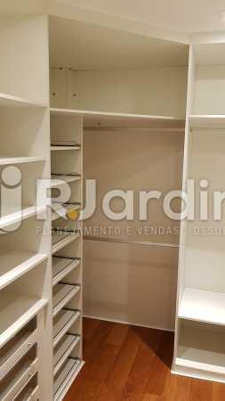 CLOSET SUÍTE MASTER  - Apartamento para alugar Rua Carvalho Azevedo,Lagoa, Zona Sul,Rio de Janeiro - R$ 8.000 - LAAP32034 - 12