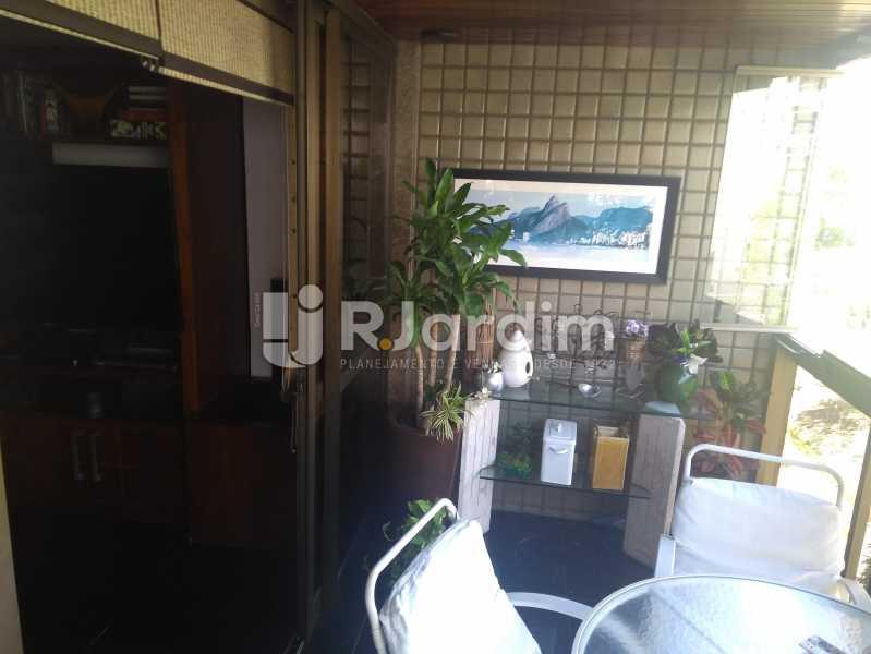 Varanda da Sala - Compra Venda Avaliação Imóveis Apartamento Lagoa 4 Quartos - LAAP40760 - 3