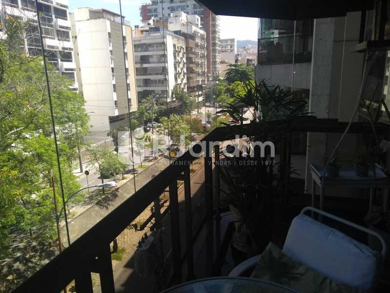 Varanda da Sala - Compra Venda Avaliação Imóveis Apartamento Lagoa 4 Quartos - LAAP40760 - 6