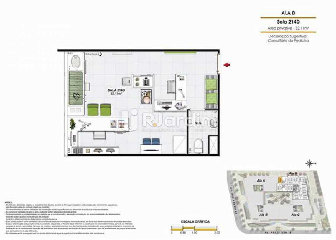 SALA 214D - Sala Comercial Recreio dos Bandeirantes, Zona Oeste - Barra e Adjacentes,Rio de Janeiro, RJ À Venda, 18m² - LASL00201 - 23