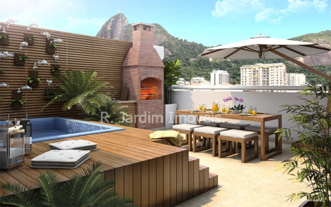 terraco.gourmet - Apartamento Botafogo, Zona Sul,Rio de Janeiro, RJ À Venda, 2 Quartos, 75m² - LAAP21432 - 14