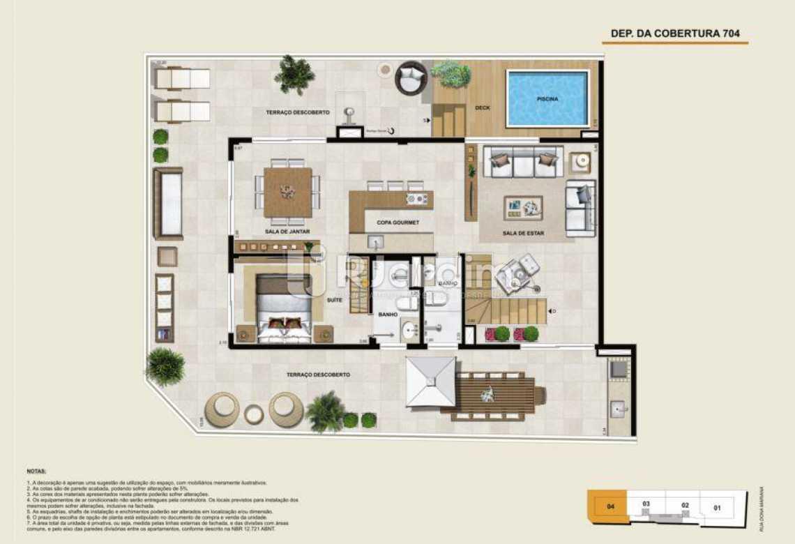 COBERTURA 704 SUPERIOR - Apartamento À Venda - Botafogo - Rio de Janeiro - RJ - LAAP40764 - 24