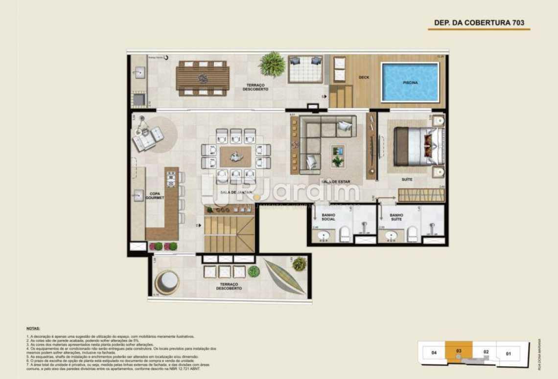 COBERTURA 703 SUPERIOR - Apartamento À Venda - Botafogo - Rio de Janeiro - RJ - LAAP40764 - 22