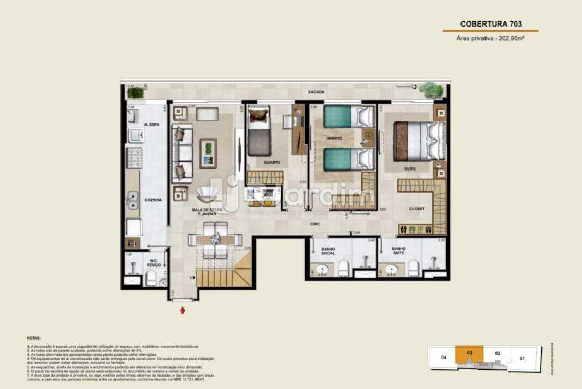 COBERTURA 703 INFERIOR - Apartamento À Venda - Botafogo - Rio de Janeiro - RJ - LAAP40764 - 21
