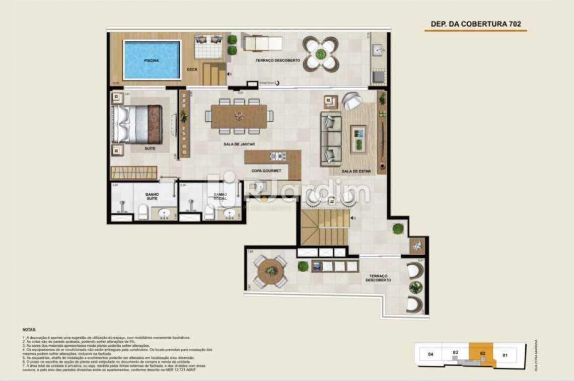 COBERTURA 702 SUPERIOR - Apartamento À Venda - Botafogo - Rio de Janeiro - RJ - LAAP40764 - 20