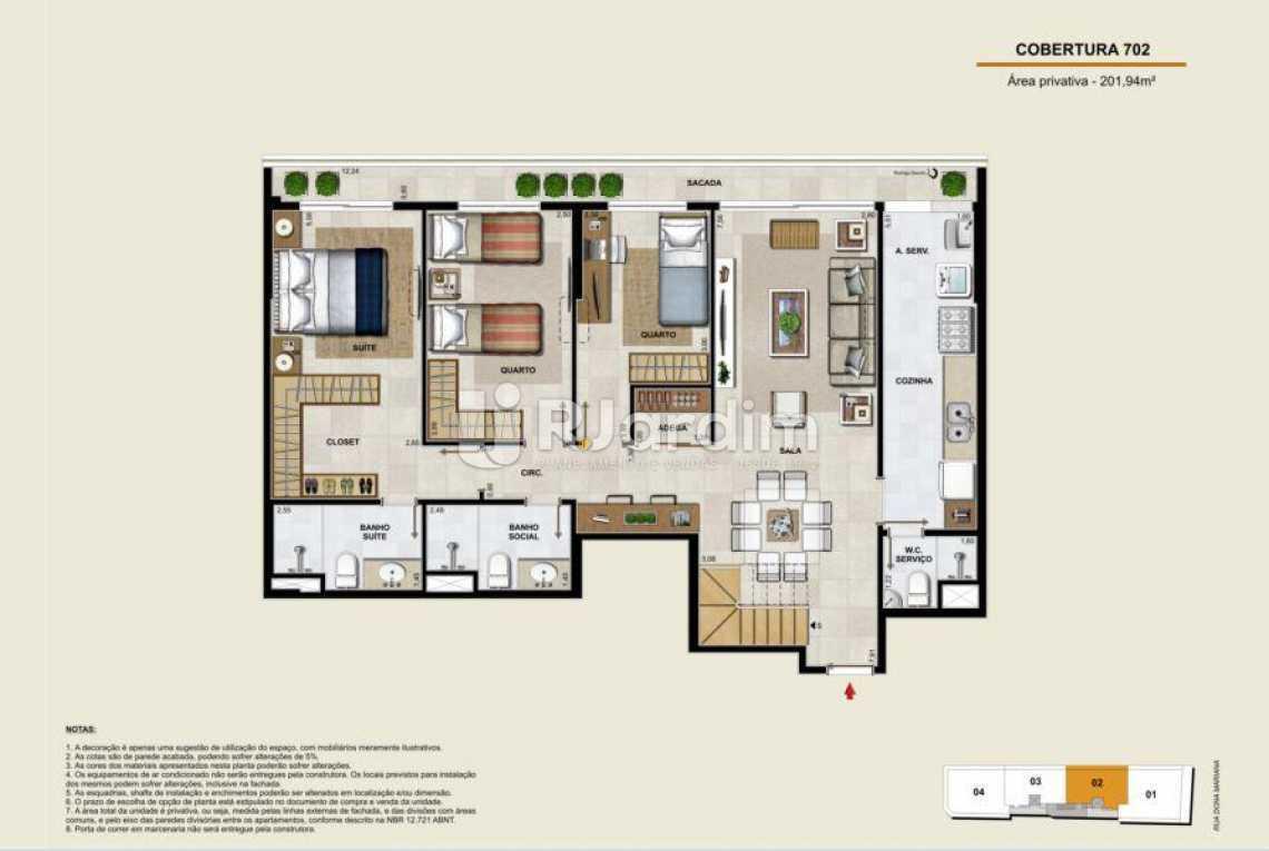 COBERTURA 702 INFERIOR - Apartamento À Venda - Botafogo - Rio de Janeiro - RJ - LAAP40764 - 19