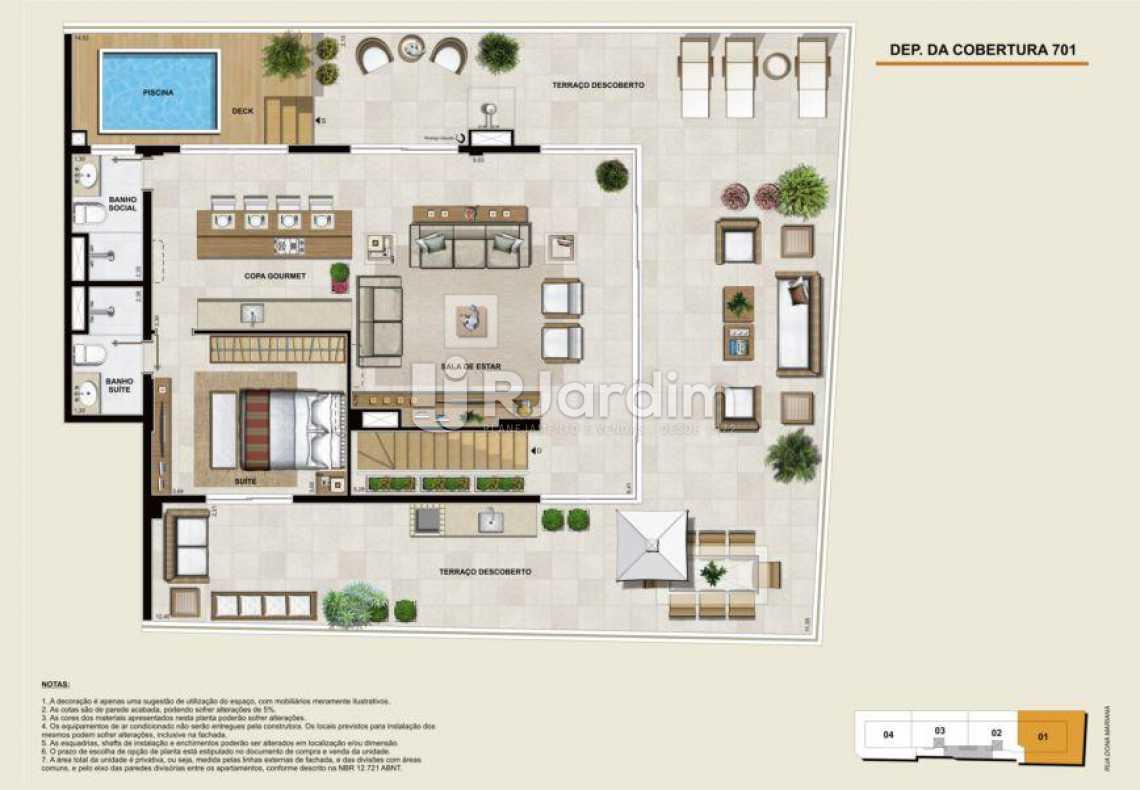 COBERTURA 701 SUPERIOR - Apartamento À Venda - Botafogo - Rio de Janeiro - RJ - LAAP40764 - 18