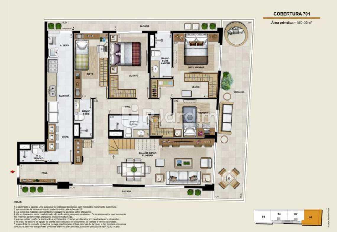 COBERTURA 701 INFERIOR - Apartamento À Venda - Botafogo - Rio de Janeiro - RJ - LAAP40764 - 17