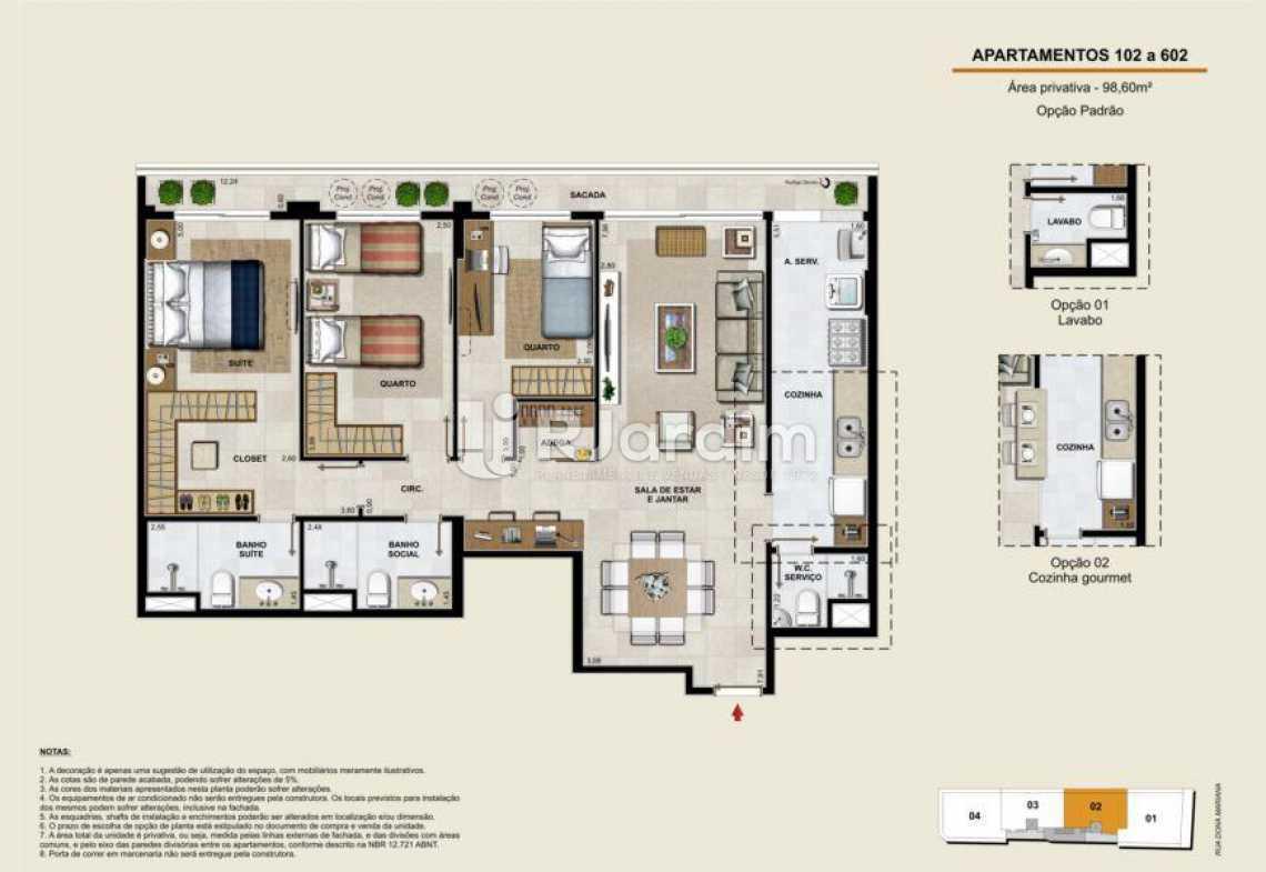 APARTAMENTOS 102 A 602 - Apartamento À Venda - Botafogo - Rio de Janeiro - RJ - LAAP40764 - 14