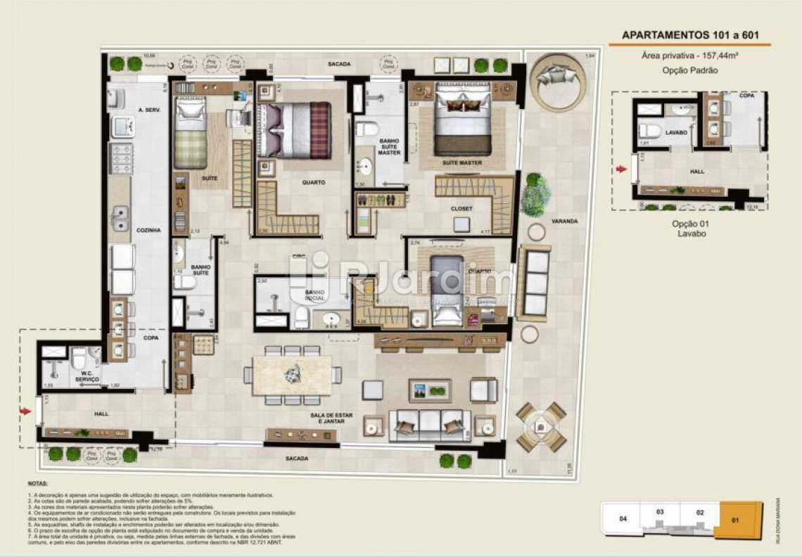 APARTAMENTOS 101 A 601 - Apartamento À Venda - Botafogo - Rio de Janeiro - RJ - LAAP40764 - 13