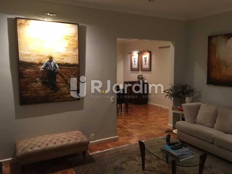 Sala de estar - Apartamento Rua Artur Araripe,Gávea, Zona Sul,Rio de Janeiro, RJ À Venda, 3 Quartos, 117m² - LAAP32056 - 5