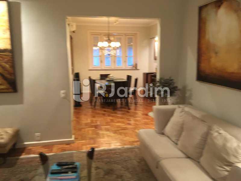 Sala de estar e jantar - Apartamento Rua Artur Araripe,Gávea, Zona Sul,Rio de Janeiro, RJ À Venda, 3 Quartos, 117m² - LAAP32056 - 3