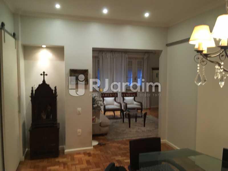 Salas de estar e jantar - Apartamento Rua Artur Araripe,Gávea, Zona Sul,Rio de Janeiro, RJ À Venda, 3 Quartos, 117m² - LAAP32056 - 9