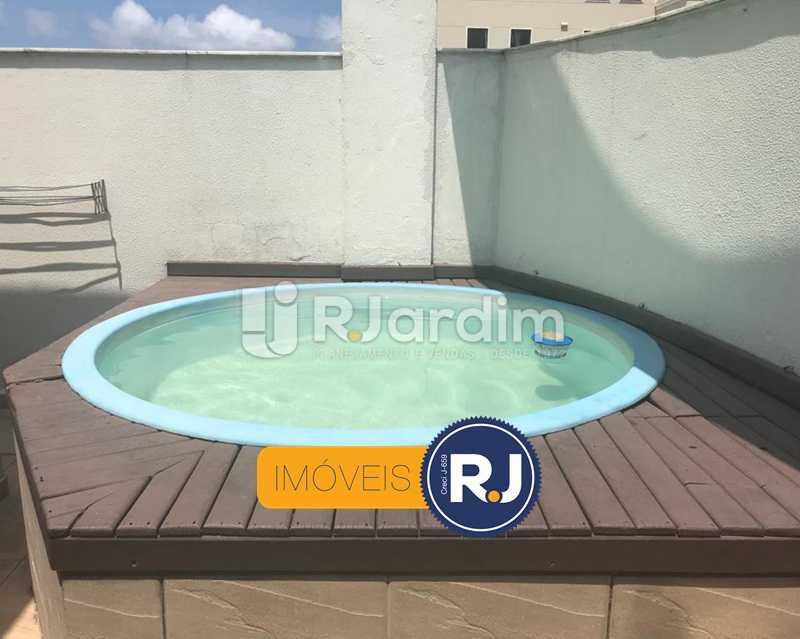 DECK COM PISCINA - Cobertura à venda Rua das Laranjeiras,Laranjeiras, Zona Sul,Rio de Janeiro - R$ 980.000 - LACO10022 - 1