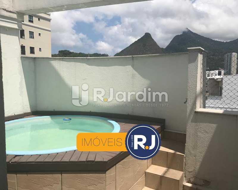 TERRAÇO - Cobertura à venda Rua das Laranjeiras,Laranjeiras, Zona Sul,Rio de Janeiro - R$ 980.000 - LACO10022 - 5