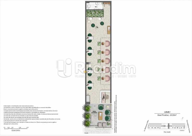 Planta_Loja-I. - Loja 45m² à venda Leblon, Zona Sul,Rio de Janeiro - R$ 1.728.658 - LALJ00135 - 11