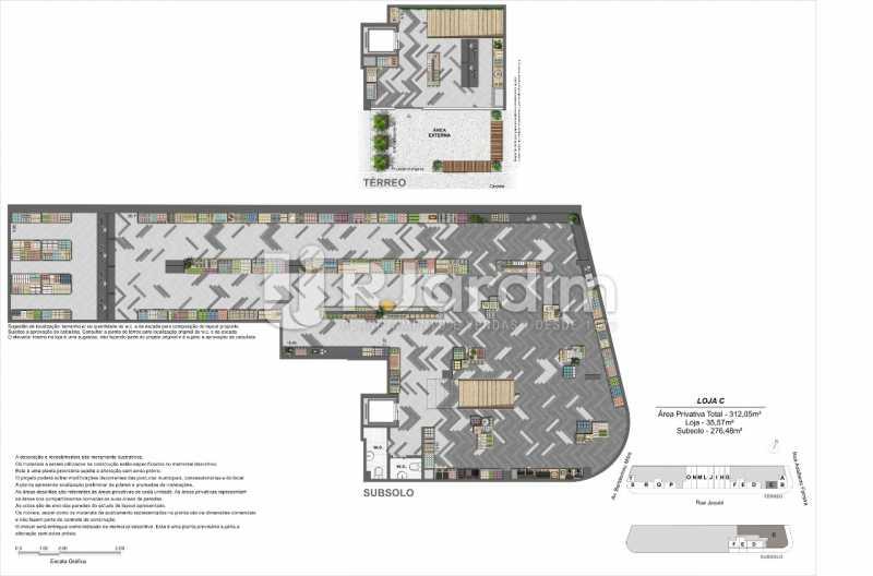 Planta_Loja-C. - Loja 45m² à venda Leblon, Zona Sul,Rio de Janeiro - R$ 1.728.658 - LALJ00135 - 8